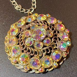 Vintage Aurora Borealis Crystal Pendant